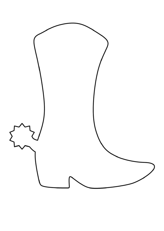 Cowboy Boot Template Printable Pdf Download