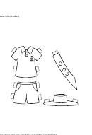 Paper Boy Australian Clothing Template