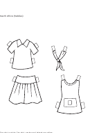 Paper South Africa Clothing Template