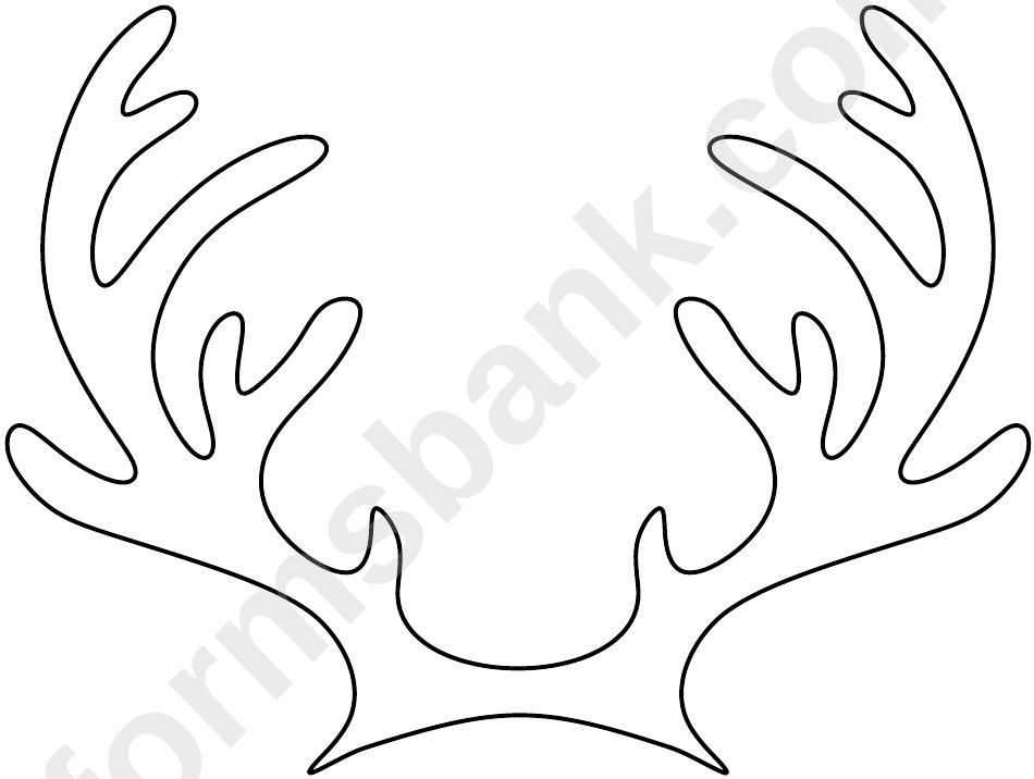Reindeer Antler Template printable pdf download