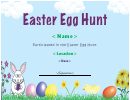 Easter Egg Hung Certificate Template