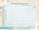 Blank School Attendance Sheet - Light Blue