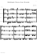 Hallelujah Chorus From Messiah Strings Part Sheet Music