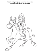 Olivia Is Riding Pony Coloring Sheet