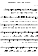 Hallelujah Chorus From Messiah Alto Part Sheet Music