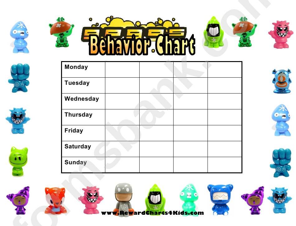 Gogos Weekly Behavior Chart For Kids