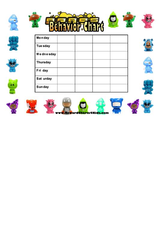 Gogos Weekly Behavior Chart For Kids Printable pdf