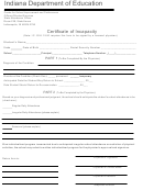 Certificate Of Incapacity - Indiana Department Of Education