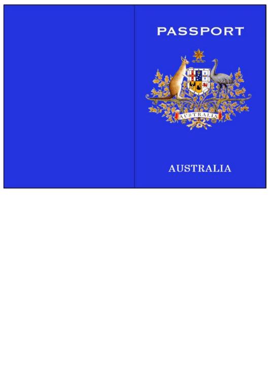 Australian Passport Template