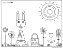Easter Hunt For The Eggs Coloring Sheet