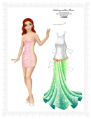 Audrey And Her Dress Paper Doll Template