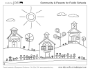 Community And Parents For Public Schools Coloring Sheet