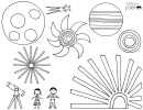 Music Video Night Sky Coloring Sheet