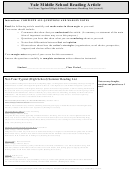 Not-your-typical (high School) Summer Reading List (1220l) - Middle School Reading Article Worksheet