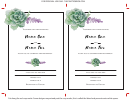 Wedding Invitation Template - Succulent 5x7