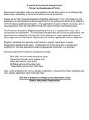 Financial Assistance Eligibility Application Form - Easton Recreation Department
