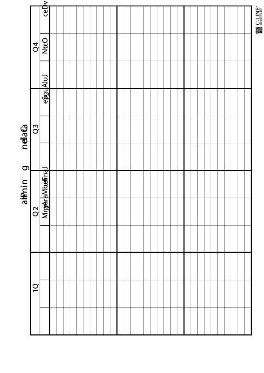 Year Planner Spreadsheet Template