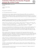 Sample No Action Letter - Voluntary Fiduciary Correction Program