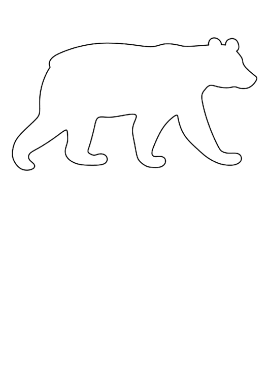 blank polar bear template printable pdf download