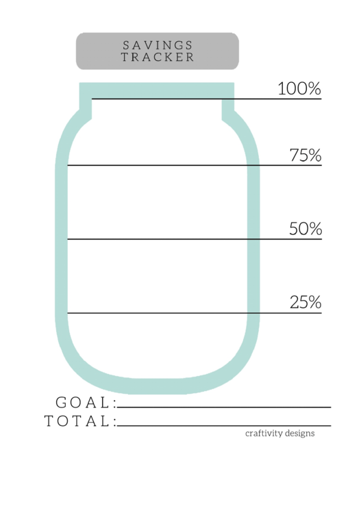 Savings Tracker Template printable