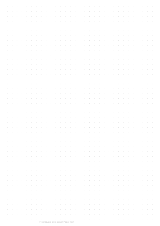 Square Dots Graph Paper (6.35mm)
