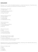 English Language Questions Worksheet