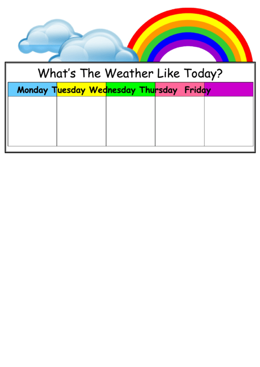 photograph about Weather Chart Printable named Temperature Chart For Children printable pdf down load