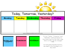Today/yesterday/tomorrow Weather Chart For Kids
