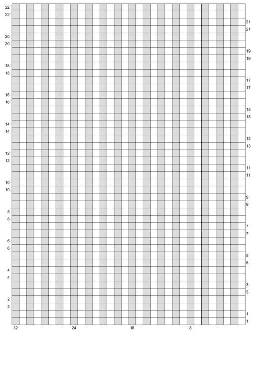 Double-Knit Graph Paper Printable pdf