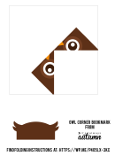 Origami Owl Corner Bookmark Template