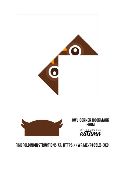 origami owl corner bookmark template printable pdf download