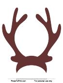 Brown Reindeer Antlers Template