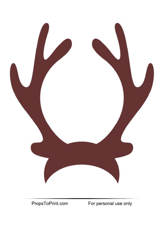 Top 7 Reindeer Antler Templates free to download in PDF format