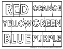 Name Of Color Coloring Sheets