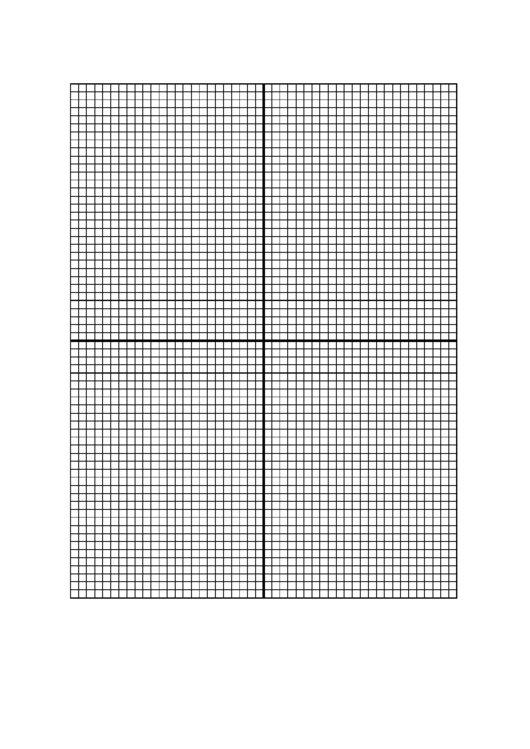 Graph Paper With Centered X-Y Axis - 8 Lines/inch Printable pdf