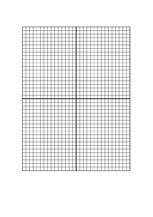 Graph Paper With Centered Xy Axis - 5 Lines/inch Printable pdf