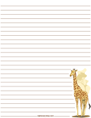 Giraffe Lined Stationery Templates