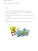 Sponge Bob Squarepants Board Game Template