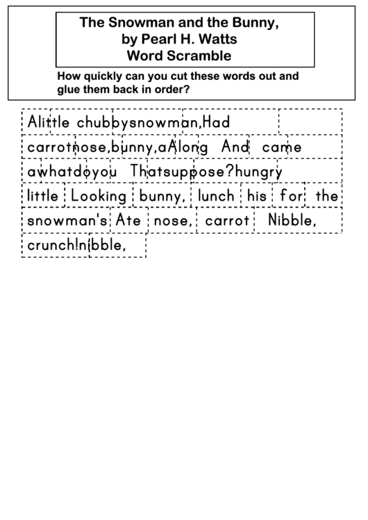 The Snowman And The Bunny Puzzle Piece Template