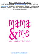 Mama And Me Notebook Labels Template