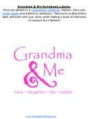 Grandma And Me Pink And Black Notebook Labels Template