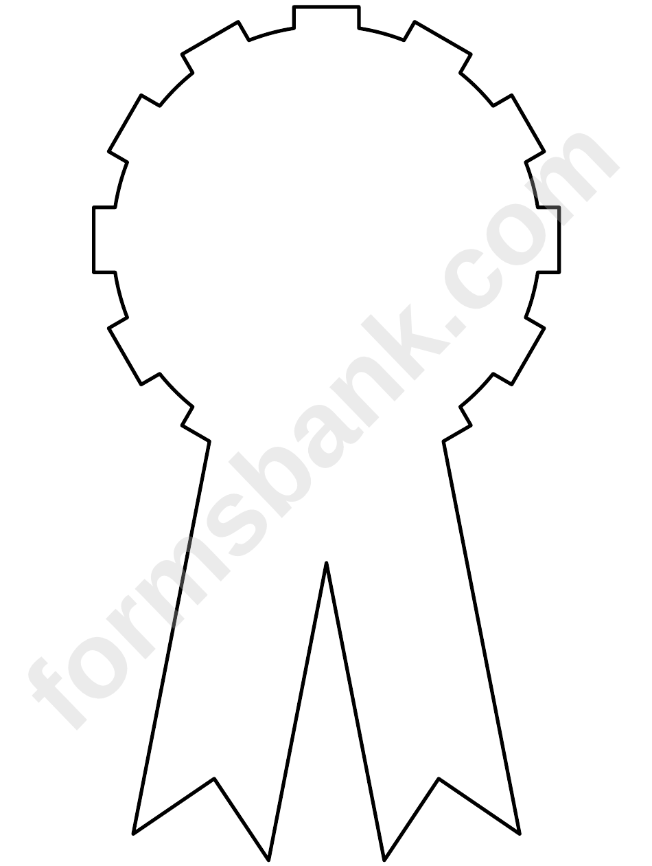 Award Ribbon Template printable pdf download