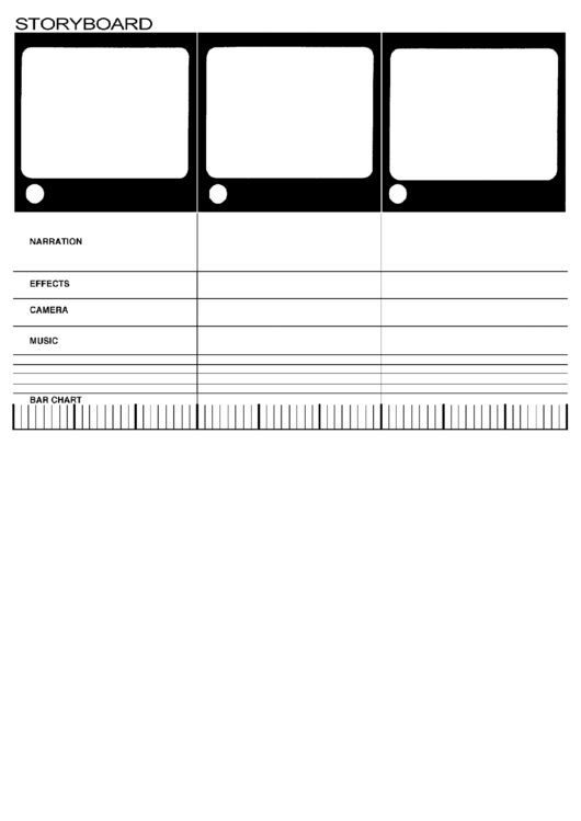 Video Storyboard With Comments Template Printable pdf