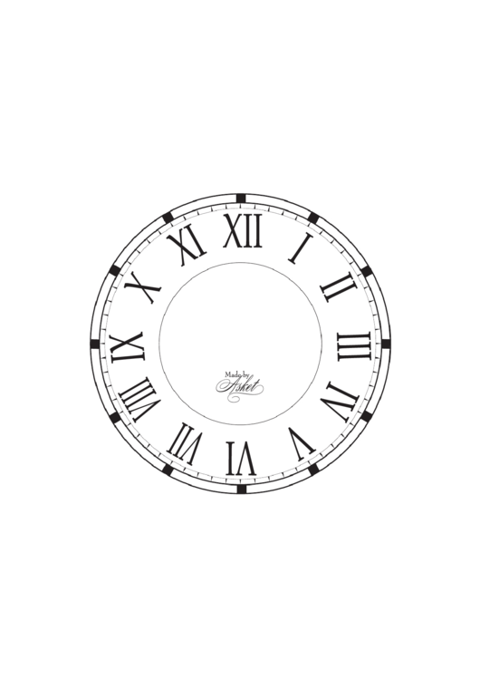 graphic about Roman Numeral Stencils Printable known as Roman Numeral Clock Deal with Template printable pdf down load