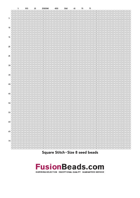 Square Stitch Size 8 Seed Beads Cross Stitch Graph Paper Printable pdf