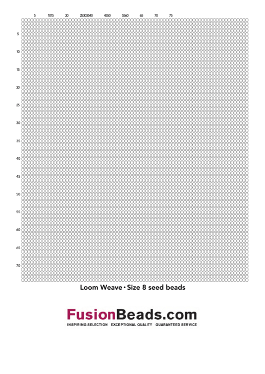 Loom Weave Size 8 Seed Beads Cross Stitch Graph Paper Printable pdf