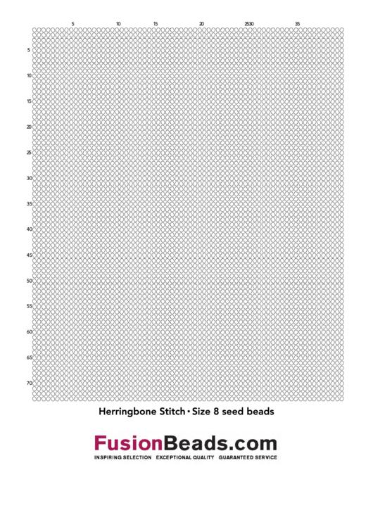 Herringbone Stitch Size 8 Seed Beads Cross Stitch Graph Paper Printable pdf