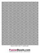 Square Stitch Size 11 Seed Beads Cross Stitch Graph Paper