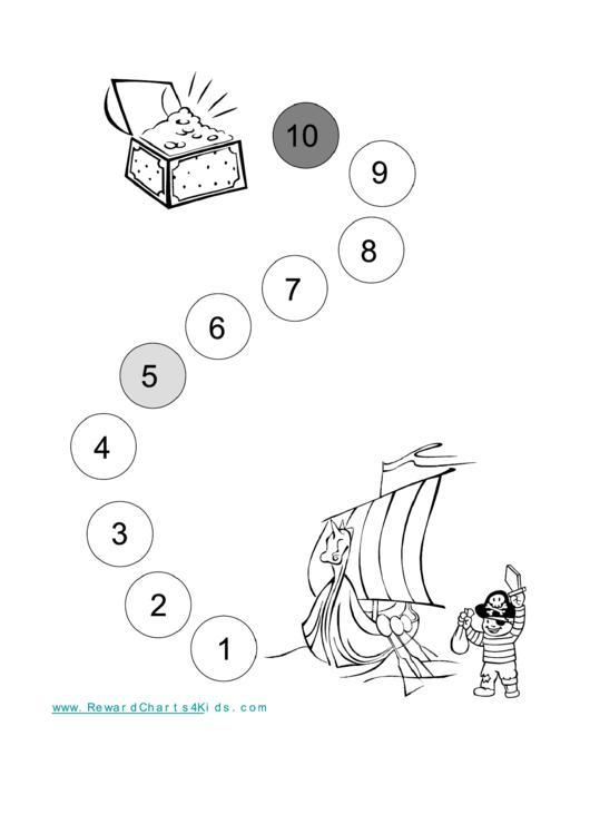 Pirate Reward Chart For Kids