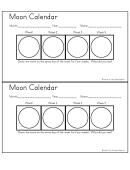 Moon Calendar Template